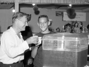 Gov. Rockefeller with Gary Mazzacano at Col. Cty. Fair 1966
