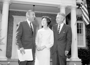 Red Hook School welcomes Sec. of the Interior Stewart Udall 1966 (1)