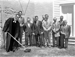 G'town Reformed Ch. Rev. Shields breaks ground for new addition 1962