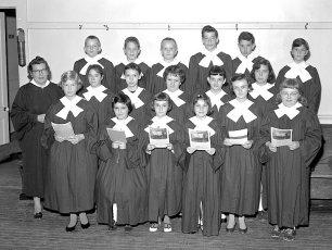 G'town Reformed Church Jr. Choir Alma Rogers, Director 1959