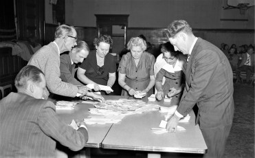 Roe Jan Central School Counting Votes 1956