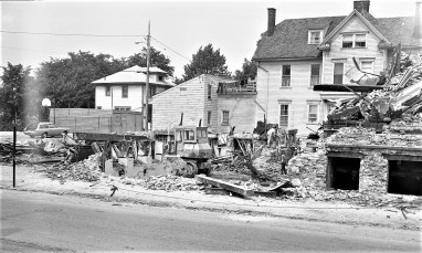 Demolition of St. Mary's Elementary after fire Hudson 1973 (7)