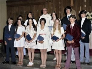 St. Mary's Academy 8th Grade Graduation Hudson 1974