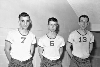 St. Mary's Academy Basketball Team #7 Rich Grossman #6 Tom Cowel #13 Tom Buckley 1957  (2)
