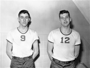 St. Mary's Academy Basketball Team #9 Don Egan #12 Tom Healy 1957