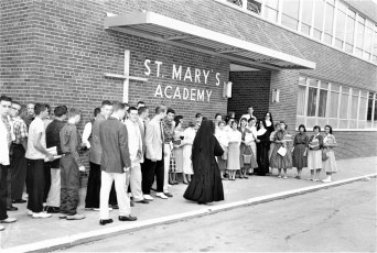 St. Mary's Academy First Day of New School Hudson 1957 (1)