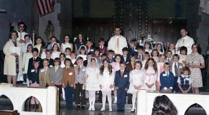 St. Mary's Church 1st. Communion Hudson 1973