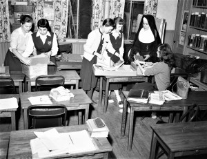 St. Mary's School Moving Day Jan. 7 1957 (2)
