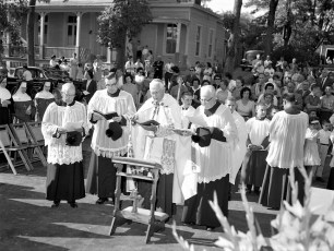 St. Patrick's Parish School Blessing of new school Catskill Sept. 1962 (3)