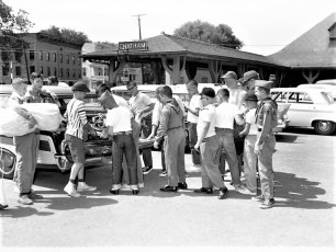 Boy Scout Troop 111 leaving for camp Chatham 1963 (2)
