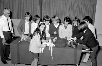First Aid Class at Claverack Reformed Church 1967