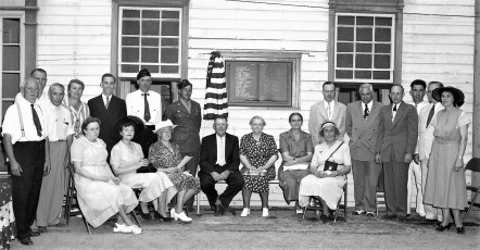 Dedication of Academy and Plaque Honoring WWI & II  Vets Clermont 1949 (4)