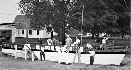 The Clermont replica built by the Town of Clermont for the Hudson Champlain Cellebration 1959 (1)