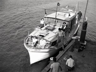 Dr Henry's yacht at Anchorage 1949