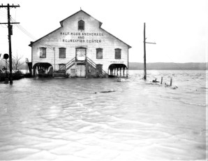 Flooding at the Half Moon Anchorage Oct. 1955