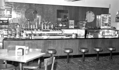 G'town Pharmacy the new lunch counter Jan. 1955 (2)