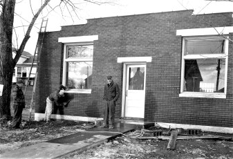 G'town Post Office finishing touches Dec.1955
