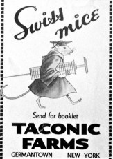 Taconic Farms advertising piece G'town 1955