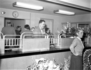 The First National Bank opening G'town Mar. 1955 (3)