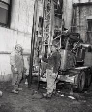 Edgar Dewitt & John Miller well drilling 1966
