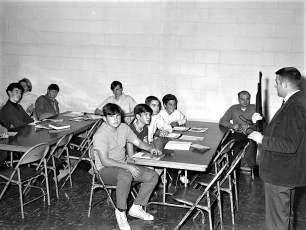 Hunter Safety Training Course instructor George Sharpe G'town 1969