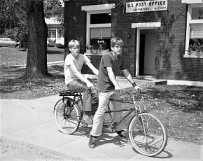 Alan Parks front Ronald Rifenburgh rear G'town 1972