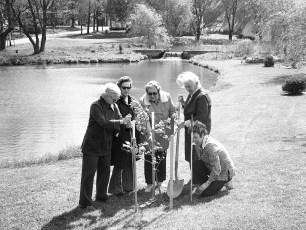 Garden Club planting Liberty Tree Mrs. Reuter, Schroeder, Rosenquest, Ekert & Ostrander 1976