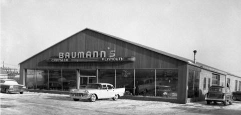 Baumann's Chrysler Plymouth Rt. 9 Greenport 1957