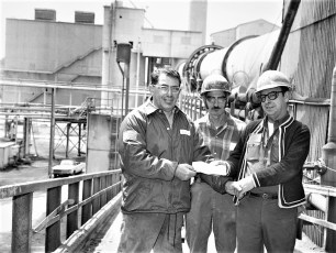 Greenport Rescue Squad Fund Raising at Atlas Cement Plant Greenport 1973