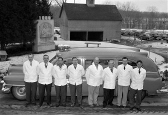 Greenport Rescue Squad at Lone Star Cement Hudson 1956