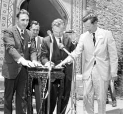Olana Preservation Bill Signing Gov. Rockefeller, Ass. Larry Lane, Sen. Lloyd Newcombe 1966 (1)