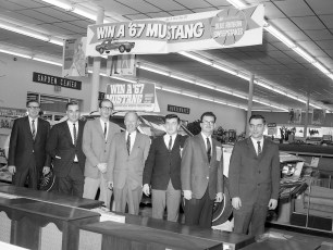 W.T. Grant Co. Win a Mustang Sweepstakes Greenport 1967