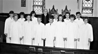 Livingston Memorial Church Confirmation Class Linlithgo 1965