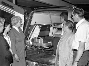 Southern Col. Ambulance Squad's new ambulance Livingston 1972 (2)