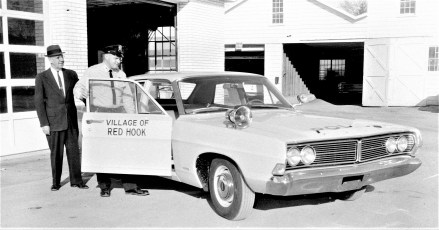 New Village Police car Mayor Hand & Patrolman Maine Red Hook 1968