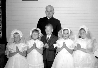 Holy Cross Church First Communion Father Alford West Taghkanic 1964