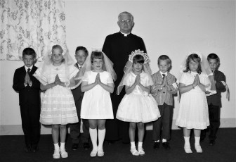 Holy Cross Church First Communion Father Alfred W. Taghkanic 1967