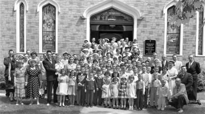 Methodist Church congregation Philmont 1956