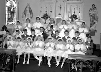 Sacred Heart Church 1st Communion Class Philmont 1966
