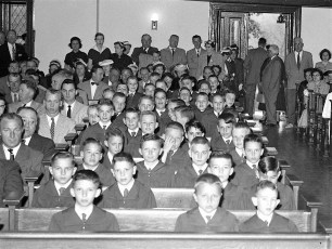 Sacred Heart Church 1st. Communion Philmont 1957 (1)