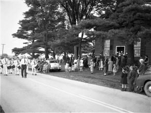 Memorial Day services at Red Church Tivoli NY 1950