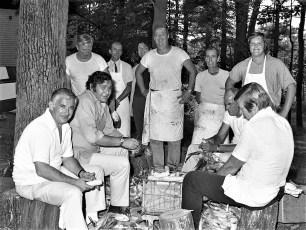 St. Paul's Church barbeque prep Tivoli 1976 (1)