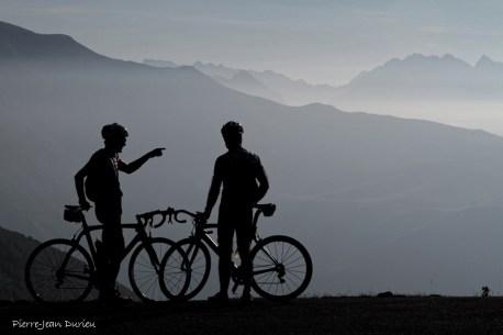 Cyclotouristes pendant l'étape du Tour, Hautacam, 13 juillet 2015