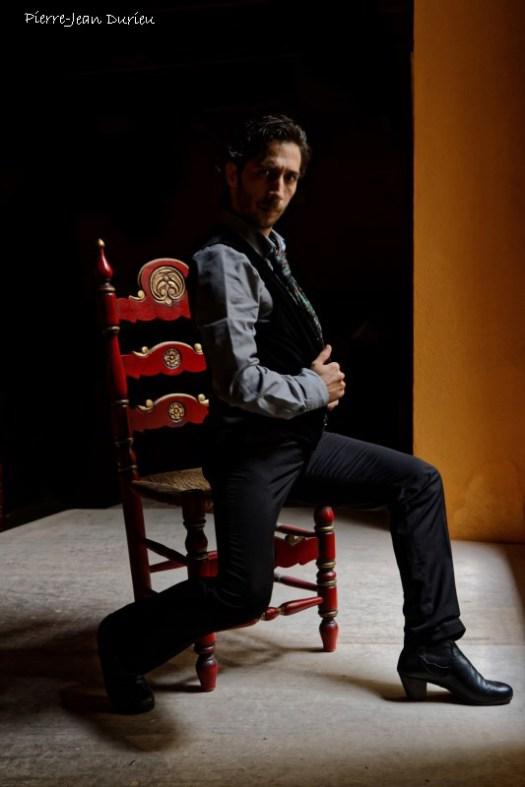 Juan Carlos Cardoso, danseur de Flamenco pose à La Casa de la Memoria, Séville, 28 octobre 2015