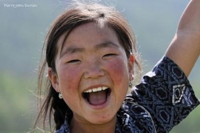 Portrait d'enfant de la steppe, Mongolie, Juillet 2013
