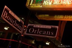 Bourbon Street by night, Nouvelle-Orléans, Louisiane, 4 mai 2015