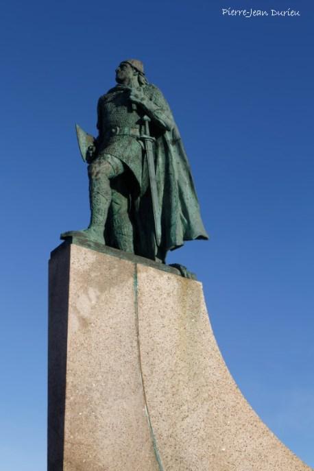 La statue de Leif Eriksson, Reykjavik, Islande