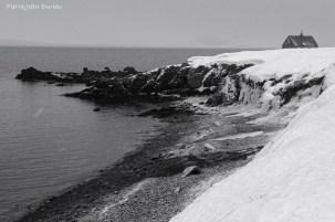 Fjord sous la neige, Islande, Mars 2016