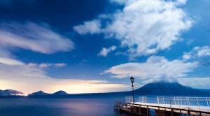 冬支笏湖の夜 - Winter Lake Shikotsu