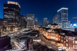 東京駅の夜景 - KITTE屋上から